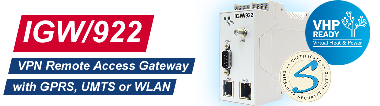 IGW/922: VPN Remote Access Gateway with GPRS and UMTS