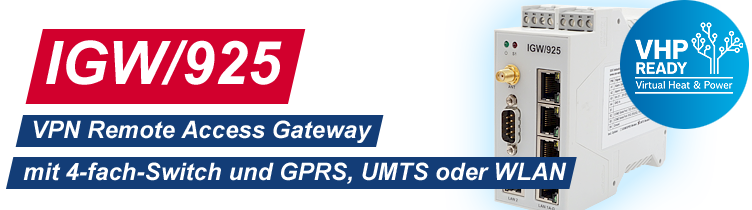 IGW/925: VPN Remote Access Gateway mit 4-fach-Switch und GPRS/UMTS