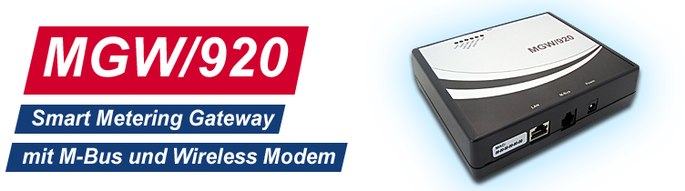 MGW/920: Smart Metering Gateway mit M-Bus und Wireless Modem